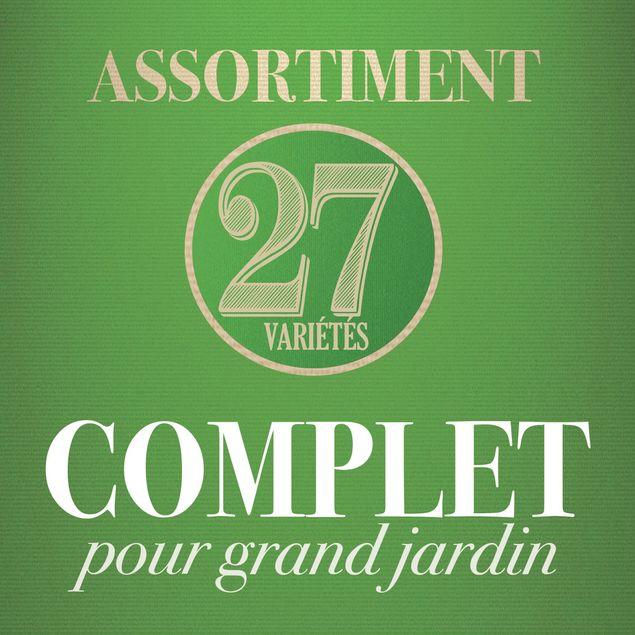 ASSORTIMENT POUR GRAND JARDIN (27 VARIETES)