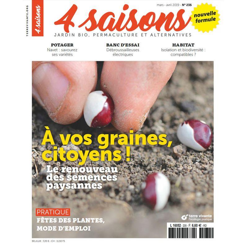 Graines Et Plantes Calendrier Lunaire Mars 2020.Magazine 4 Saisons N235 Mars Avr 19 A Vos Graines Citoyens Ferme De Sainte Marthe